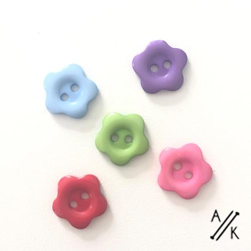 Flower Buttons 14mm x 1 - Choose colours