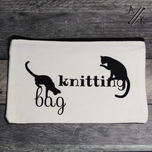 'Cats' Knitting Notions Case with Zip