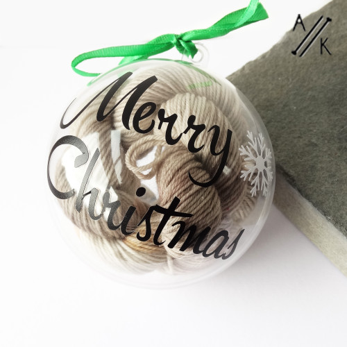 PRE-ORDER - Christmas Bauble - Mini Yarn Skein & Stitch Markers (Mid Winter-21)