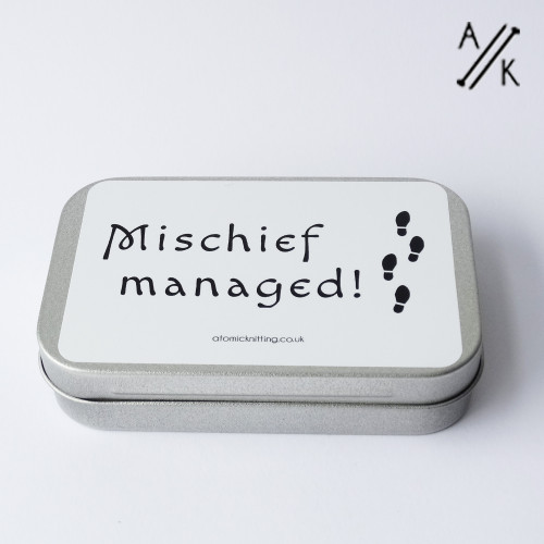 Mischief Managed DEEP Tin - tin only   Atomic Knitting