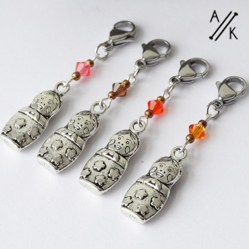 Russian Doll & Crystal Stitch Markers   Atomic Knitting