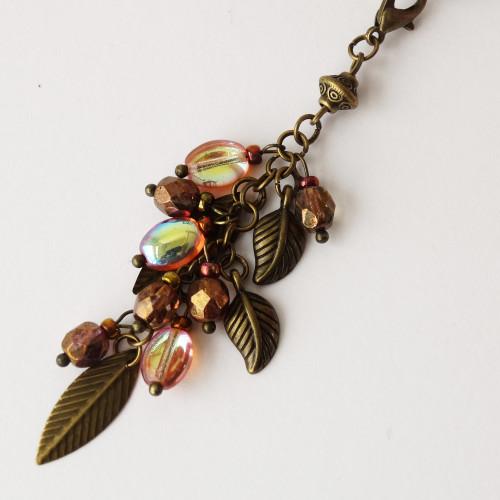 Star Key Chain & Bronzed Leaf Bag Charm | Atomic Knitting