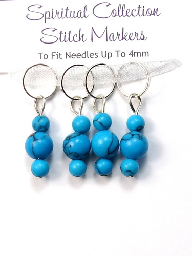 Turquoise Stitch Markers