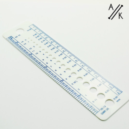 Knitting Needle Measuring Gauge