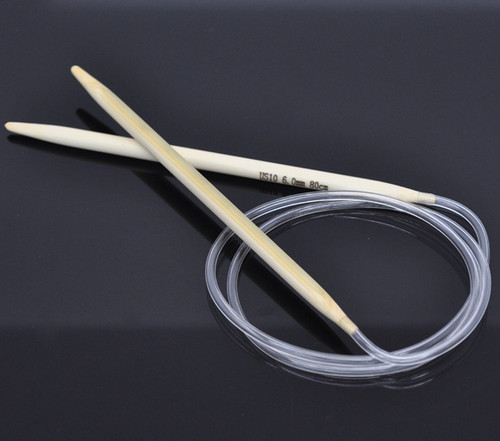 1 Pair 80cm Circular Knitting Needle Size 6.0mm
