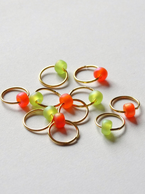 10 Jewel Rings Lace Markers 6mm - Zesty-  Studio Special