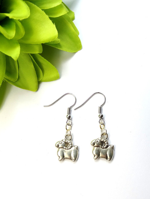 ram sheep earrings