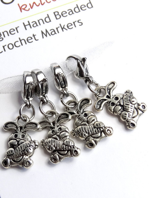 Bunny & Carrot stitch markers