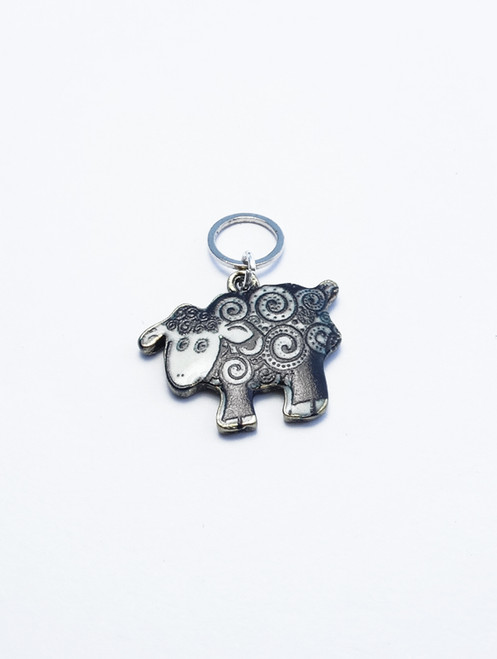 Black & White Sheep Stitch Marker