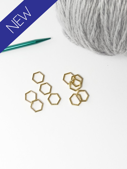 Gold solid snag free stitch markers