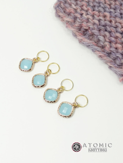 Light blue stitch markers