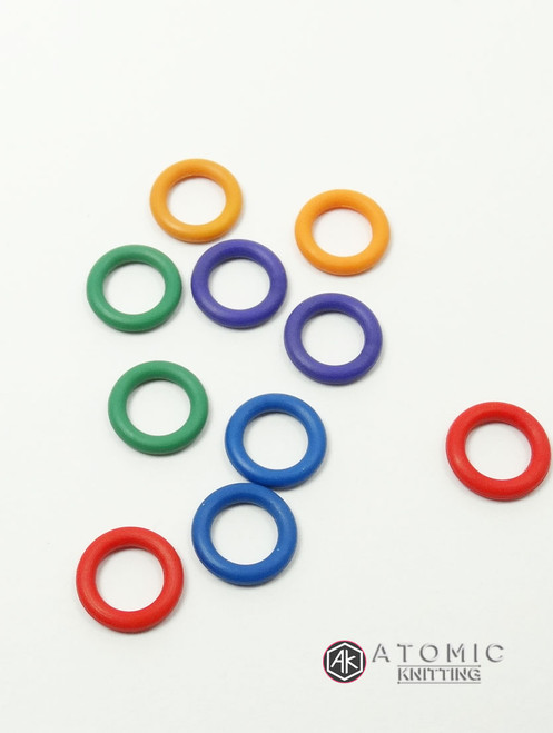 10 Mixed Colours 6mm Snag Free Lace Rings - set B