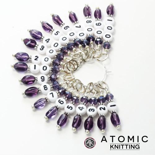 Purple Daisy Stitch Marker Charm Jewelry