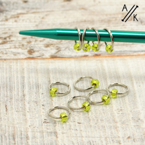 Lime 5mm Jewel Stitch Markers