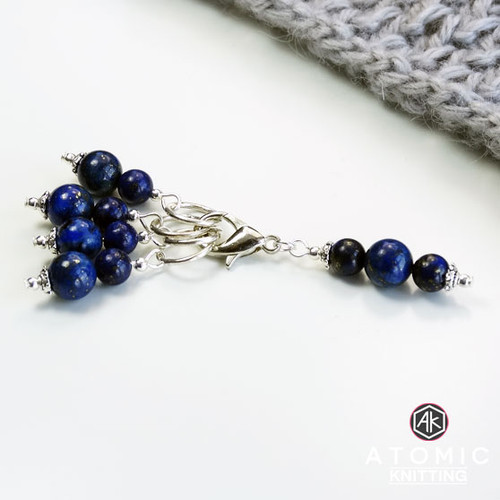 Lapis Lazuli Gemstone Stitch Markers