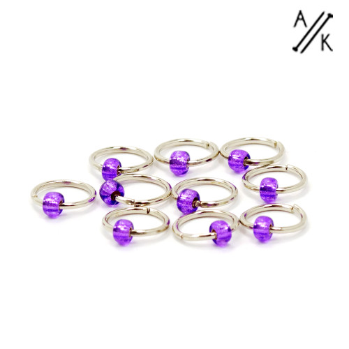 Perky Purple 5mm Jewel Stitch Markers