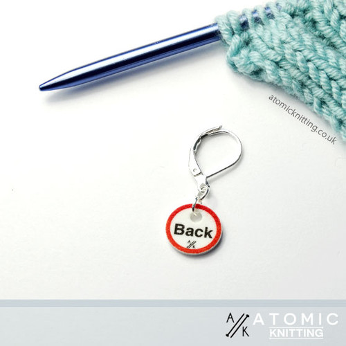 Instructional Stitch Marker (shown with removable/locking clip)