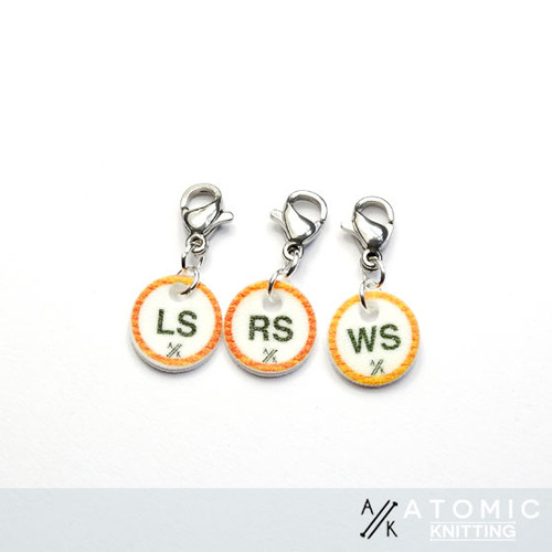 Instructional Stitch Marker (shown with crochet clasp)