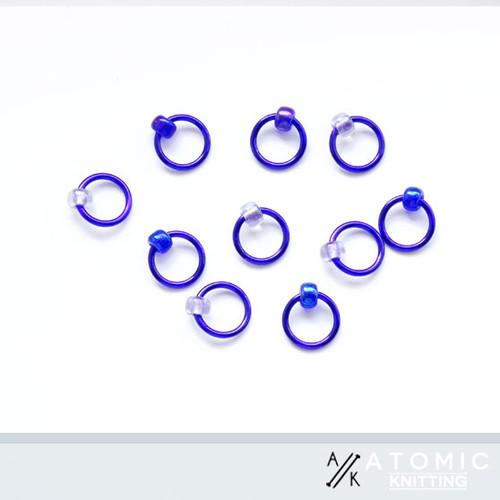 Halo rings by Atomic Knitting