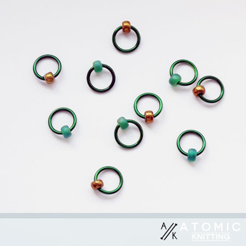 Halo rings by Atomic Knitting