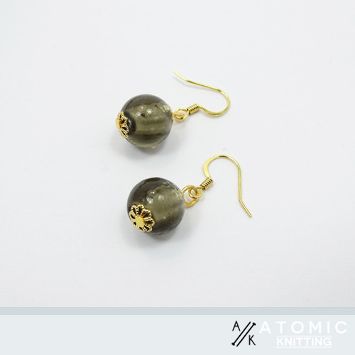 Grey & Gold Earrings