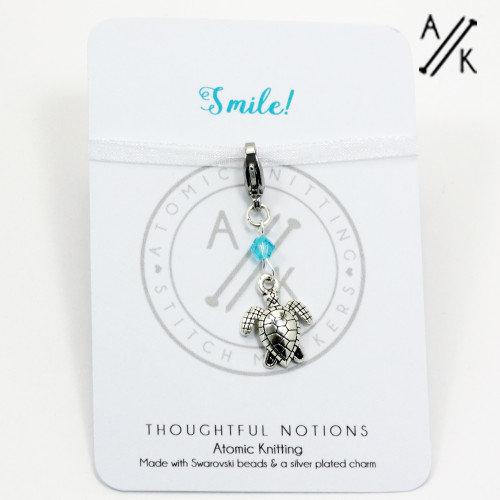 Smile Charm Progress Marker | Atomic Knitting