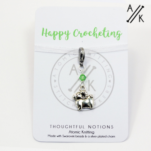 Happy Crocheting Charm Progress Marker | Atomic Knitting