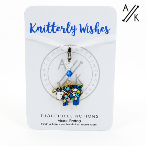 Knitterly Wishes Sheep Charm Progress Stitch Marker | Atomic Knitting