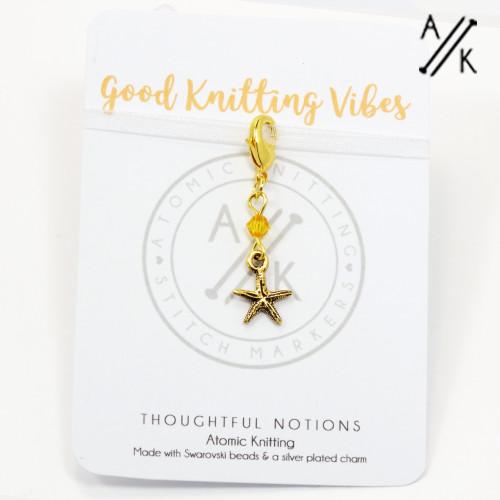 Good Knitting Vibes Charm Progress Marker | Atomic Knitting