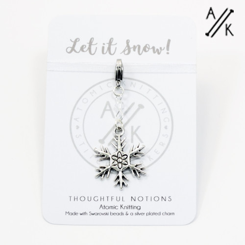 Let It Snow Charm Progress Marker | Atomic Knitting