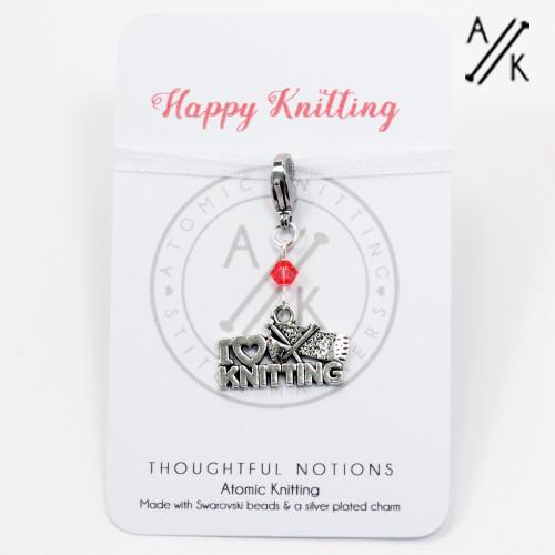 Happy Knitting Charm Progress Marker | Atomic Knitting