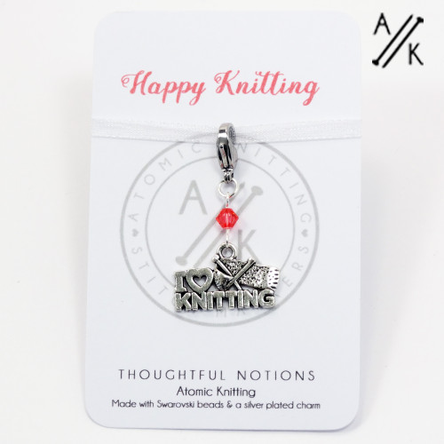 Happy Knitting Charm Progress Marker | Atomic Knitting