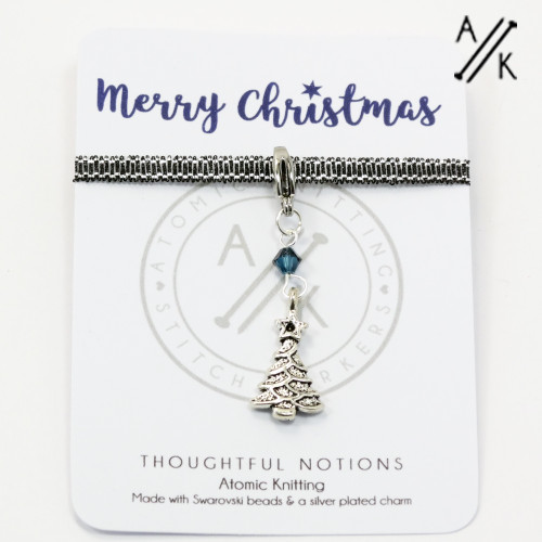 Merry Christmas Charm Progress Marker | Atomic Knitting