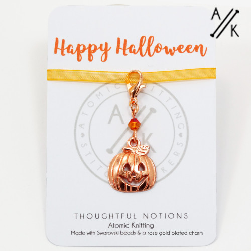Happy Halloween Charm Progress Marker | Atomic Knitting
