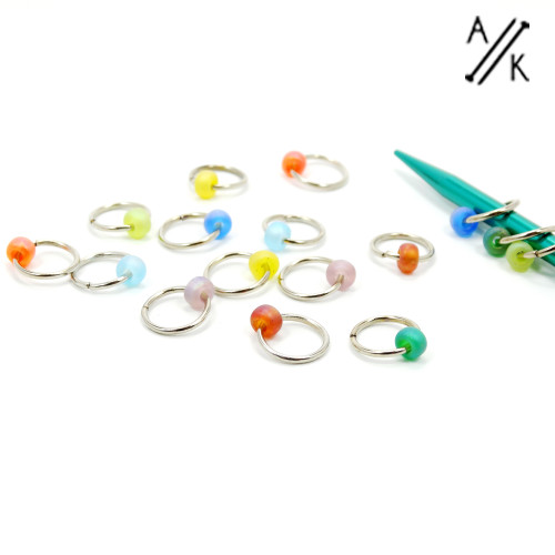 Rainbow Jewel Stitch Markers | Atomic Knitting