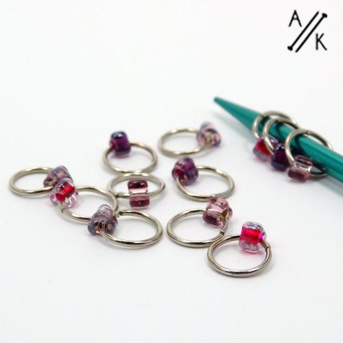 Berry Mix 1 Jewel Stitch Markers | Atomic Knitting