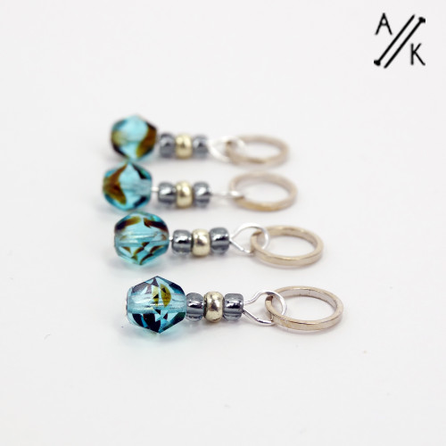 New! Lagoon-Berry Stitch Markers - Berry Collection