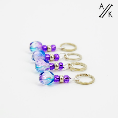 Thistle-berry Stitch Markers | Atomic Knitting