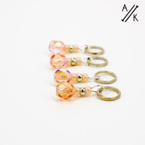 Peach-berry Stitch Markers | Atomic Knitting