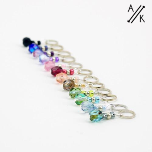 Mixed-berry Stitch Markers | Atomic Knitting