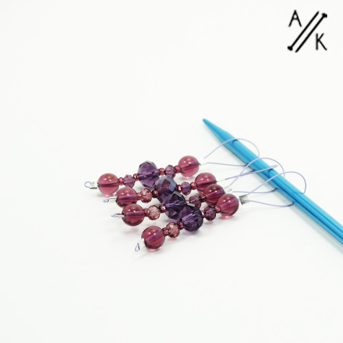 Damson Looper Stitch Marker | Atomic Knitting