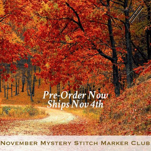 November Mystery Stitch Marker Club