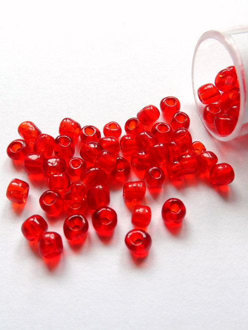Seed Beads 6/0 Cherry Red - 10g