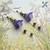 Amethyst Woodland Floral Flower Dangle Drop Earrings (ERR-01)