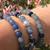 New! Natural Blue Aventurine Healing Beaded Bracelet    Atomic Knitting