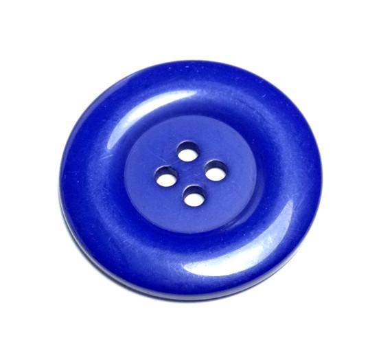 Round Acrylic Button - Blue - 38mm