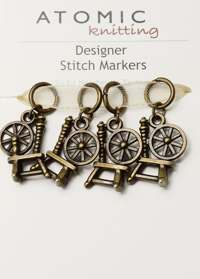 Antiqued Bronze Seahorse Stitch Markers