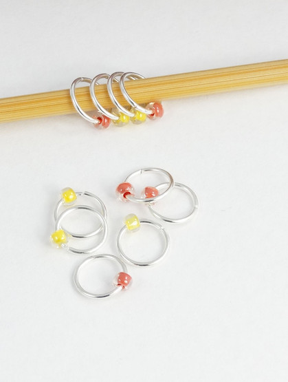 5mm Jewel  mix knitting stitch markers