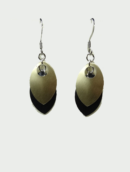 Black/Gold Colour  Earrings