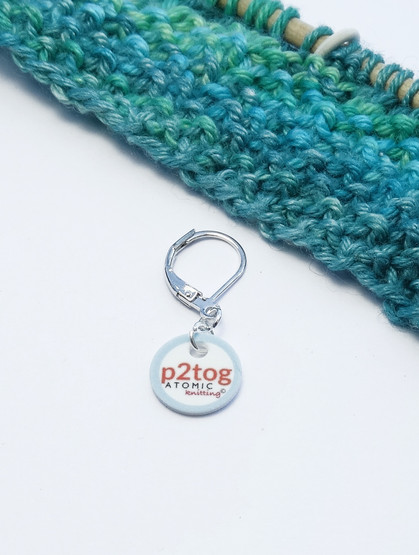 P2tog stitch marker (shown with removable/6mm crochet clasp)